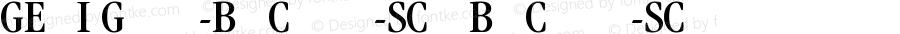 GEMMJI+Garamond-BookCondensed-SC700 BookCondensed-SC700 Version 1.0