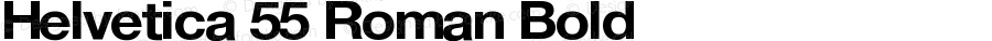 Helvetica 55 Roman Bold
