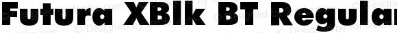 Futura XBlk BT Regular Version 1.0 Extracted by ASV http://www.buraks.com/asv