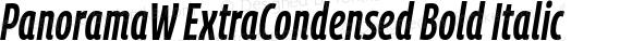PanoramaW ExtraCondensed Bold Italic