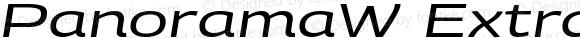 PanoramaW ExtraExtended Italic