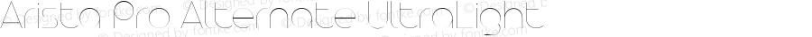 Arista Pro Alternate UltraLight Version 1.000