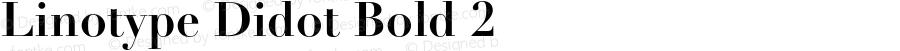 Linotype Didot Bold 2 001.000