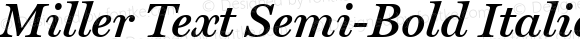 Miller Text Semi-Bold Italic