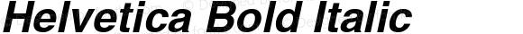 Helvetica Bold Italic