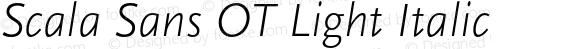 Scala Sans OT Light Italic Version 7.504; 2005; Build 1002