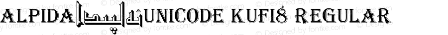 Alpida_Unicode Kufi8 Regular Version 4.00