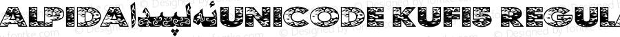 Alpida_Unicode Kufi5 Regular Version 4.00