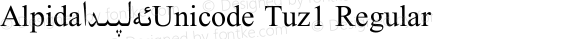 Alpida_Unicode Tuz1 Regular Version 4.00