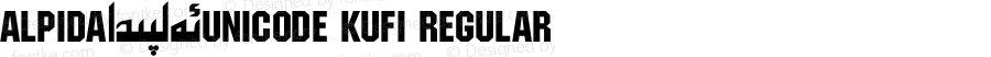 Alpida_Unicode Kufi Regular Version 4.00