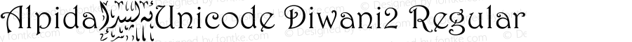 Alpida_Unicode Diwani2 Regular Version 4.00