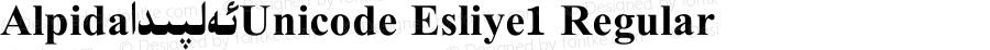 Alpida_Unicode Esliye1 Regular Version 4.00