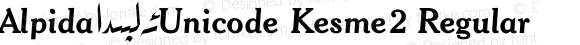 Alpida_Unicode Kesme2 Regular Version 4.00