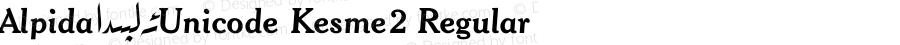 Alpida_Unicode Kesme2 Regular Version 4.00