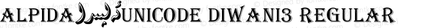 Alpida_Unicode Diwani3 Regular Version 4.00