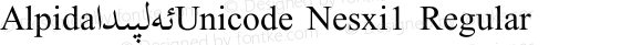 Alpida_Unicode Nesxi1 Regular Version 4.00