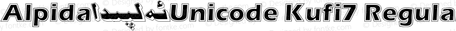 Alpida_Unicode Kufi7 Regular Version 4.00