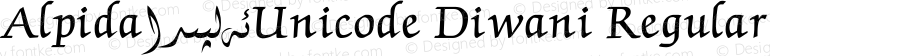 Alpida_Unicode Diwani Regular Version 4.00