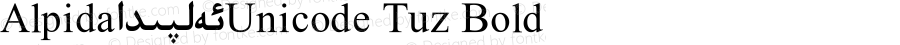 Alpida_Unicode Tuz Bold Version 4.00