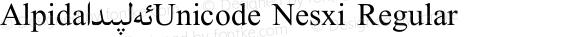 Alpida_Unicode Nesxi Regular Version 4.00