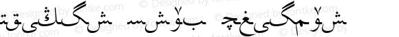 Uighur Trad Regular Uighur Trad 1.0