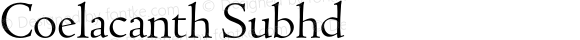 Coelacanth Subhd