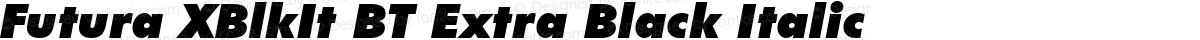 Futura XBlkIt BT Extra Black Italic