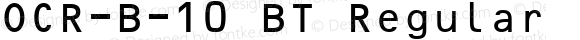 OCR-B-10 BT Regular Version 2.1