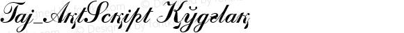 Taj_ArtScript Regular 1.000