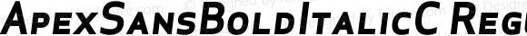 ApexSansBoldItalicC Regular 005.000