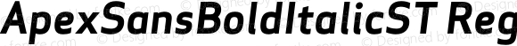 ApexSansBoldItalicST Regular 005.000