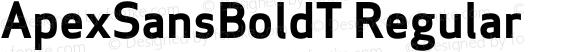 ApexSansBoldT Regular 005.000
