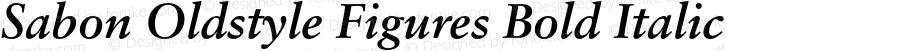 Sabon Oldstyle Figures Bold Italic 001.001