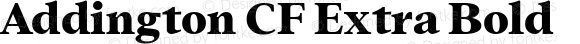 Addington CF Extra Bold