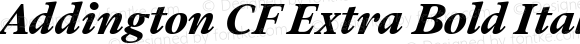 Addington CF Extra Bold Italic