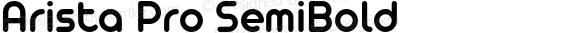 Arista Pro SemiBold Version 1.000