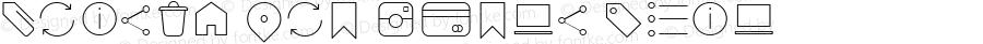 Arista Pro Icons Thin Version 1.000