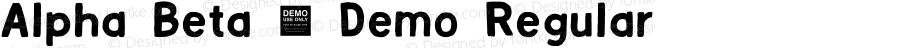 Alpha Beta - Demo Regular Version 1.000