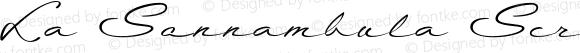 La Sonnambula Script