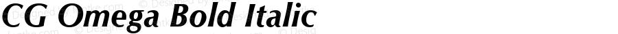 CG Omega Bold Italic