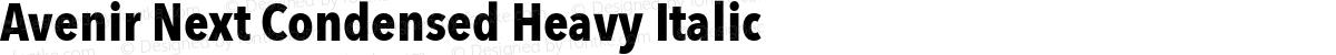 Avenir Next Condensed Heavy Italic