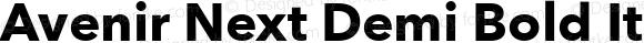 Avenir Next Demi Bold Italic