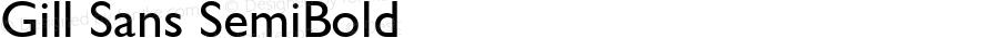 Gill Sans SemiBold 13.0d1e4
