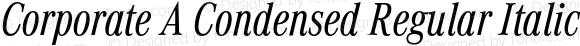 Corporate A Condensed Regular Italic