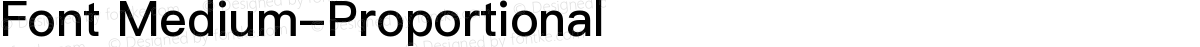 Font Medium-Proportional