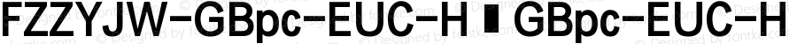 FZZYJW-GBpc-EUC-H GBpc-EUC-H Version 1.0