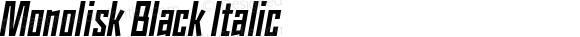 Monolisk Black Italic