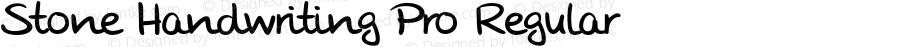 Stone Handwriting Pro Regular Version 1.000