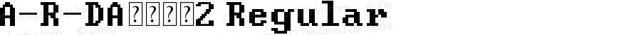 A-R-DA数字字母2 Regular Version 1.00 January 10, 2015, initial release