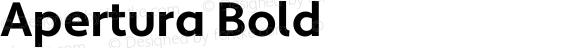 Apertura Bold Version 1.000 2008 initial release